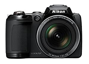 Nikon Coolpix L310 14.1MP Point and Shoot Camera (Black) with 21x Optical Zoom, 4GB Card and Camera Case