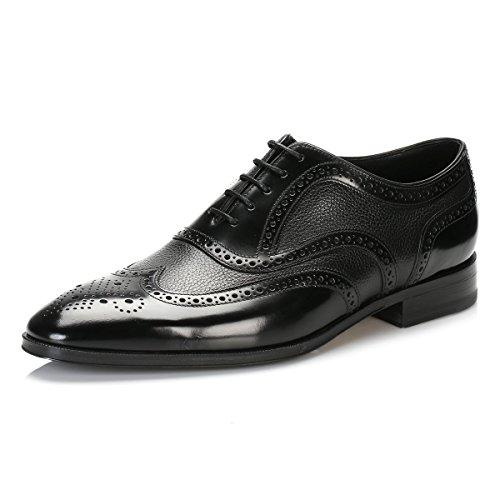 loake-hombres-negro-baskerville-brogue-zapatos-uk-6