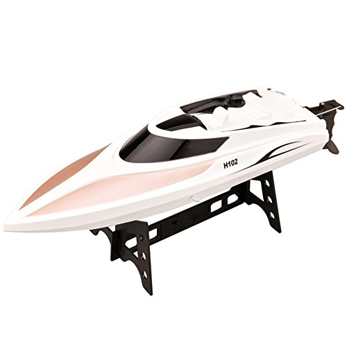 Enjoydeal RC Boat,Remote Control High Speed 2.4Ghz 4CH 180 Degree Waterproof Flipping Racing Boat Electric Toy for Adult/Kid