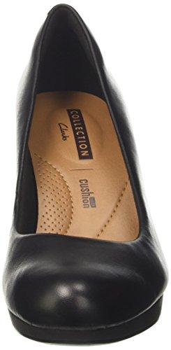 Clarks Damen Adriel Viola Pumps Schwarz (Black Leather)