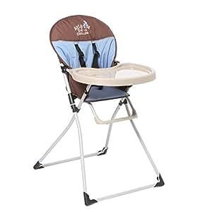 TENDRE A CROQUER Chaise Haute Mc Baby Bleu