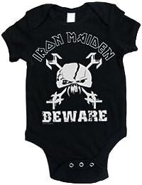 Iron Maiden Unisex Baby IMBG39CB Beware Short Sleeve Bodysuit