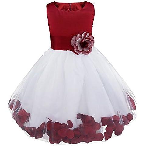 FEESHOW Niñas Vestido Falda del Cordón del Tutú Para Fiesta del Vestido de Boda