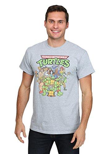 (Teenage Mutant Ninja Turtles Herren Grau T-Shirt | 2XL)