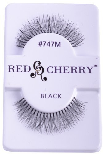 Red Cherry False Eye Lashes #747M (6 Pack) + Free iBeautiful Sample by Red Cherry #747M