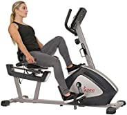 Sunny Health & Fitness Unisex Adult Sf-Rb4958 Endurance Zone Training Recumbent Bike - Grey, One