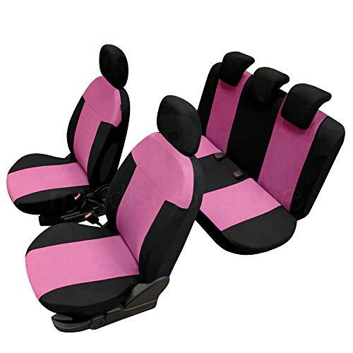 rmg-distribuzione Coprisedili per A1 Versione (2010-2018) Neri Rosa compatibili con sedili con airbag, bracciolo Laterale, sedili Posteriori sdoppiabili R03S0020