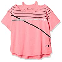 Under Armour Girls Finale Tee, Penta Pink Light Hea (975)/Black, Youth X-Small (1317795-975-Youth X-S)