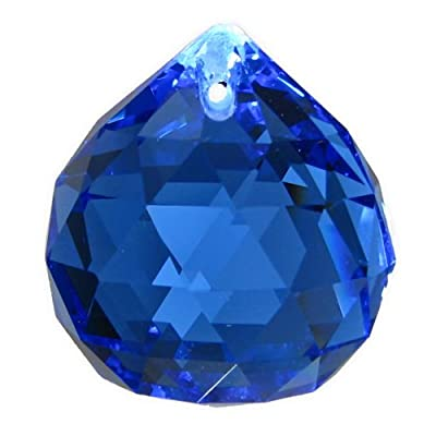 Kristall Kugel Ø 30mm Saphire ~ Blau K9 ~ Feng Shui Suncatcher von AMBROS® - Kristall auf Lampenhans.de
