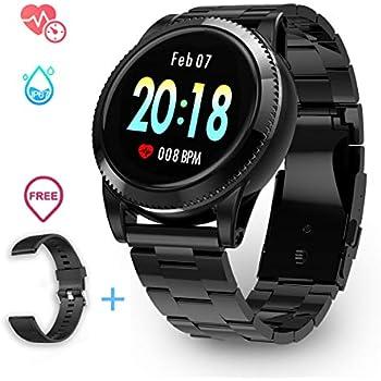 Montre Intelligente Connectée Homme Sport Smartwatch GOKOO Sport Montre Connectée Écran Couleur Bluetooth Caméra Distante Étanche