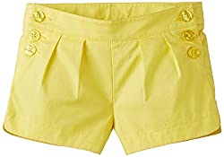 United Colors of Benetton Girls Shorts (15P4LA659600G00DL_Yellow_8 - 9 years)