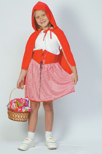 Red Kostüm Für Hood Kids Riding Little - Childrens Little Red Riding Hood Fairy Tale Fancy Dress Costume Outfit 7-10 Yrs