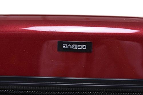 BEIBYE Zwillingsrollen 2048 Hartschale Trolley Koffer Reisekoffer in M-L-XL-Set in 14 Farben (XL, ROT) -
