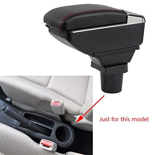 Für YARiS Luxus Auto Armlehne Mittelarmlehne mittelkonsole Zubehör Eingebaute LED-Licht Schwarz