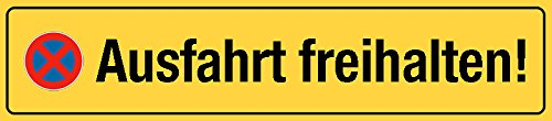 Ausfahrt Freihalten Schild Lustig Vergleich Online Produkt Finder De