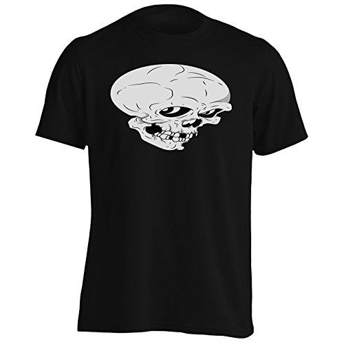 Nuova Arte Divertente Del Cranio Uomo T-shirt i880m Black