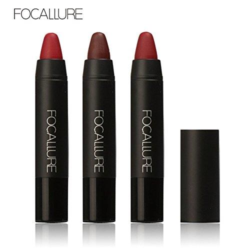 Lipstick Dark Red,Bulary lip Sticks Matte Non-fading 3 Pcs Lasting Waterproof
