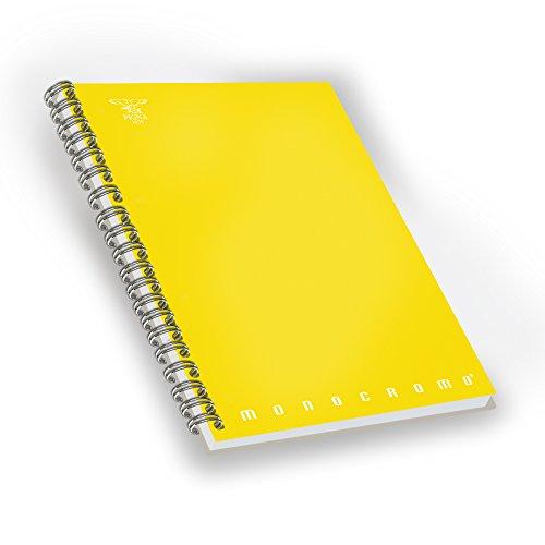 Pigna 02155581r, quaderno maxi spiralato a4 senza fori e microperforazione, rigatura 1r, righe per medie e superiori, carta 80g/mq, pacco da 5 pezzi