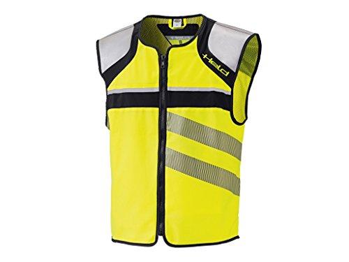 Held Stretch Warnweste, Farbe schwarz-Neongelb, Größe XL Motorrad Safety Jacket