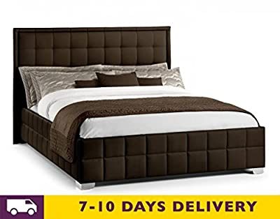 Julian Bowen Knightsbridge Faux Leather Bed - low-cost UK bed shop.