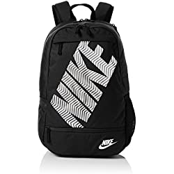 Nike Backpack Classic Line Mochila, Unisex Adulto, Negro/Blanco (Black/Black / White), Talla Única
