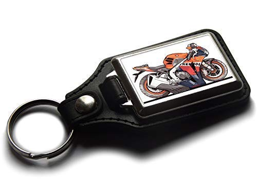 Koolart Caja de cartón para Motocicleta, Honda Cbr1000 Repsol Sport Piel y Cromo Llavero selecciona un Color, Naranja