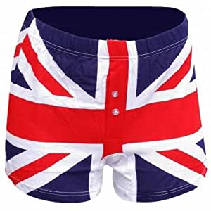 Mens Union Jack Boxer Shorts: Amazon.co.uk: Sports & Outdoors