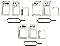 TULMAN 3 Pack of SIM CARD Adapter Nano to Micro White
