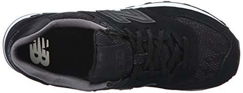 New Balance Womens WL574 Nouveau Lace Pack Running Shoe, Black/Castlerock, 10 B US Black/Castlerock