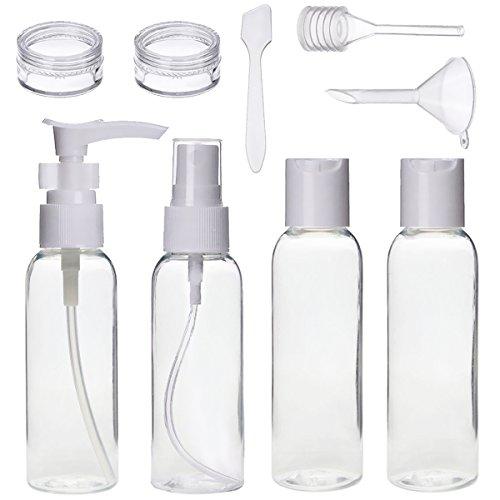 Reise Flaschen Set, Act 9 Stück Tragbar Reiseflasche Multi-Size-Container Kulturbeutel Transparente Travel Bottle für Shampoo, Lotion, Cream, Körperpflege, Sonnencreme