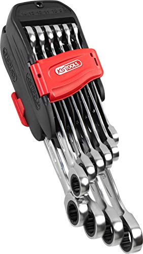 KS Tools 503.4250 Jeu de 10 clés mixtes cliquet gearplus, Chrome satiné