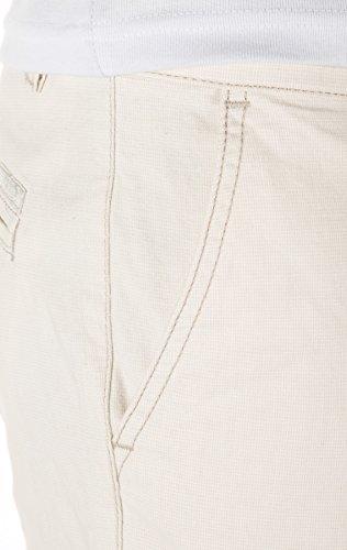 Yazubi Herren Chino Shorts Aiden gemustert Beige (Turtledove 125202)