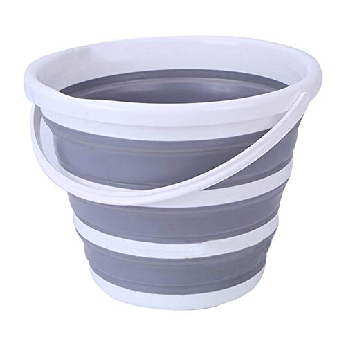 10L Premium Falteimer - Tragbarer Faltbarer Wasserbehälter - Platzsparender Eimer zum Spülen von Geschirr und Personen beim Camping, Wandern und zu Hause -