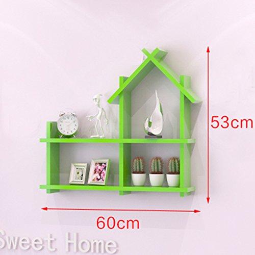 GYP Kreatives Gitter, einfaches modernes Tendenz Wohnzimmer Schlafzimmer Holz Regal TV Hintergrund Wand Trennwand Umwelt Gesundheit 60cm * 53cm kaufen ( Farbe : H )