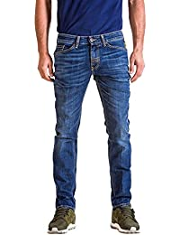 Meltin'Pot - Jeans MANER D0143-UK114 pour homme, style droit, taille slim, taille normale