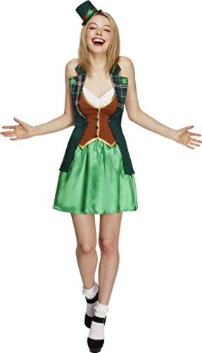 Smiffy's 43493M - Fever St. Patricks Kostüm mit Jackeer Rock angebaute Underskirt und (Kostüme Dress Irland Fancy)