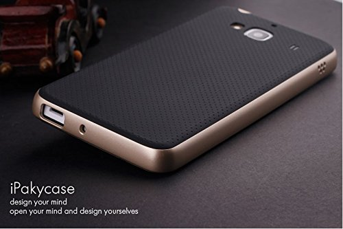 Original Ipaky Brand Luxury High Quality Ultra-Thin Dotted Silicon Black Back + Pc Gold Frame Bumper Back Case Cover For Xiaomi Redmi 2