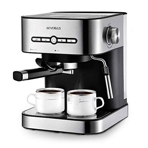 AEVOBAS Macchina Caffè, Macchina Caffè Espresso Italiano Spina e Manuale con Pompa 15...