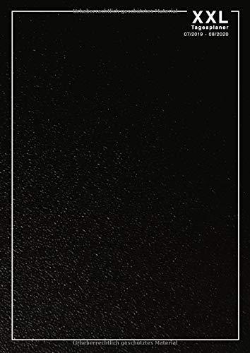 Tagesplaner XXL 07/2019 - 08/2020: A4 Kalender für 14 Monate, 1 Tag = 1 Seite, mit Tagesplan, Monatsübersicht, Erinnerungen, Todos, Notizen (schwarz)