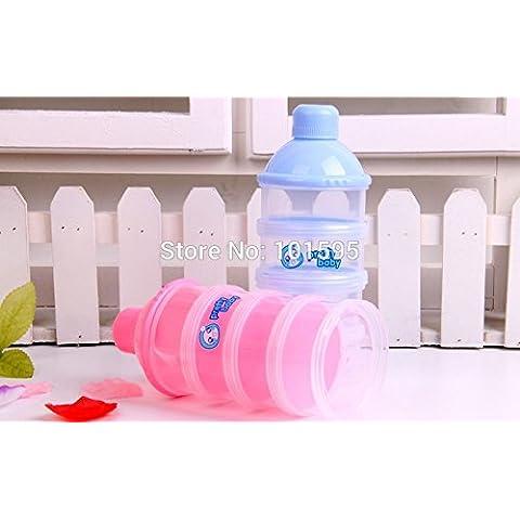 lesunhug (TM) Hot vendita contenitore per alimenti scatola polvere Latte, 4strati Bebè prodotti bottiglia di latte
