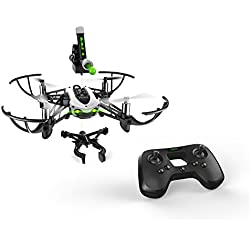 Parrot Mambo Mission - Dron cuadricóptero (30 Km/h, 10 minutos de vuelo, 100 metros de alcance) + Mando Flypad + Soporte smartphone + Cañon + 50 bolas + Pinza Grabber