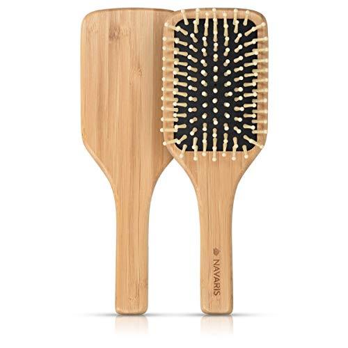 Navaris cepillo bambú pelo - Peine madera cerdas