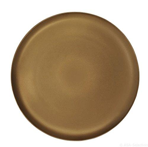 ASA Assiette, Céramique, Or, 31 cm