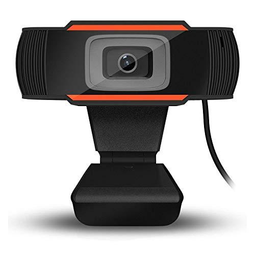VINCEN USB Webcam, HD-Computer Kamera, HD-Video Kamera Mit Mikrofon, 12 Millionen Pixel, Mit Nachtsicht Funktionen,Orange