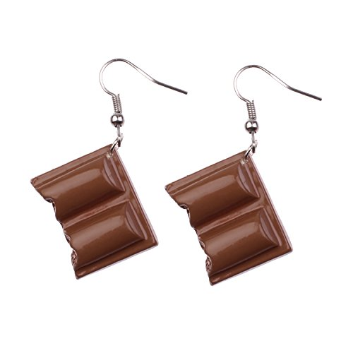 Snykk Schokoladen-Ohrringe - 2 Stück – Tafelschokolade