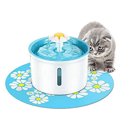 PETAMANIM Katzen- und Hundetrinkbrunnen Haustier Blumentrinkbrunnen Trinkbrunnen für Katzen und Hunde Automatisch Leise Haustier Wasserbrunnen Wasserspender mit Aktivkohlefilter