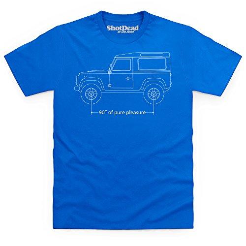90 Inches of Pure Pleasure T-Shirt, Herren Royalblau