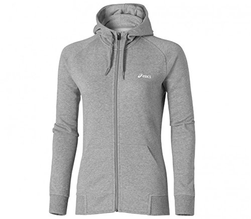 ASICS Women's Knit Full Zip Hoody über Kopf grau grau meliert S Full Zip Knit Top