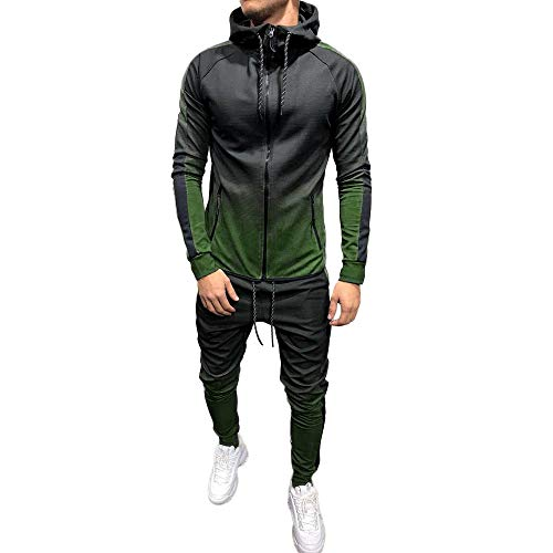 Mymyguoe Jacke Herren Print Sweatshirt Packwork Top Pants Sets Sport Freizeit Anzug Strickjacke Trainingsanzug Herbst Winter verdicken Warme Sets Sportanzug Reißverschluss Stehkragen Sportswear -