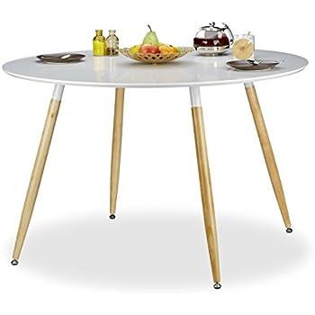 Esstisch weiß holz rund  Esstisch Esszimmertisch Retro Küchentisch Design Holz Tisch ...